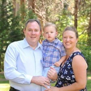 Adrian Kraft with family