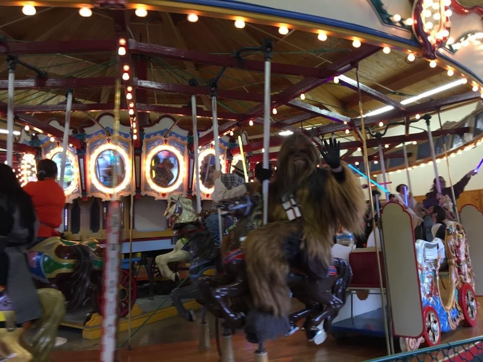 Eric Pope as Chewbacca on Ferris Wheel