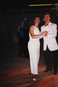 Jesse and mom dancing 1996