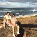 Kwok Yang (Jack) Ng beach with son