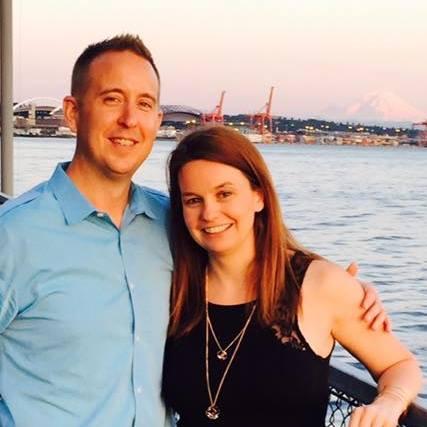Amber Hausfeld with husband
