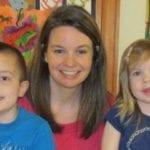 Amber Hausfeld with kids